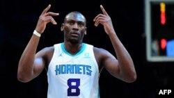 Bismack Biyombo, basketteur congolais ya Charlotte Hornets na NBA na Centre Barclays na New York, na Etats-Unis, 11 décembre 2019.