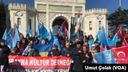 Акция протеста крымских татар в Стамбуле. Архивное фтото