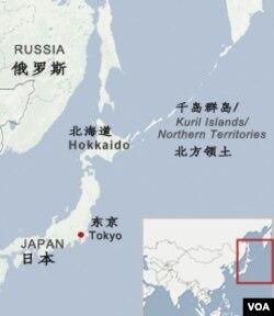 日俄争议岛屿地理位置图