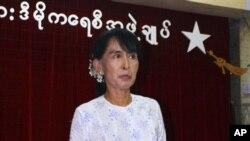 緬甸反對派領袖昂山素姬(資料照片)