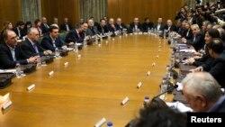 İlk toplantısını yapan yeni Yunan hükümeti