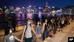 8月23日香港人人鏈行動資料照。