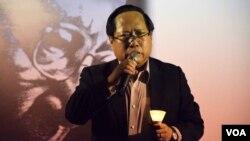 香港支聯會主席何俊仁 (美國之音特約記者 湯惠芸拍攝 )