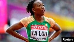 L'Ivoirienne Marie-Josée Ta Lou, à Londres, le 5 août 2017.