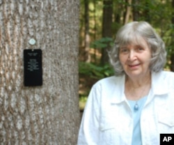 Carol Sawtell, 90, plans to have her ashes buried in the forest, along with those of her late husband, Robert.