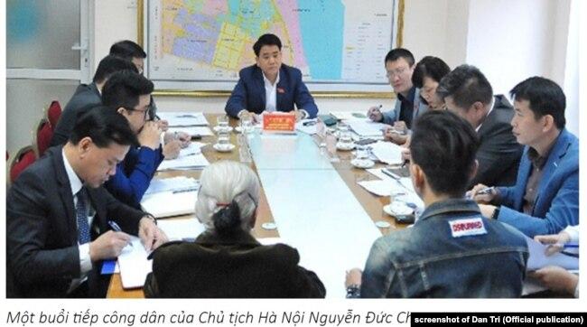 Một buổi tiếp công dân của Chủ tịch Hà Nội Nguyễn Đức Chung