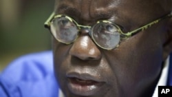 Former New Patriotic Party presidential candidate, Nana Akufo-Addo, campaign headquarters, Accra, Ghana, Dec. 6, 2012.