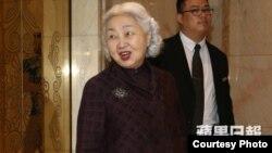 香港前律政司司长、基本法委员会副主任梁爱诗(苹果日报图片 )