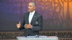 Obama: African-American Museum Shows Protest and Love of Country 'Inform Each Other'