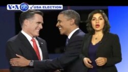 VOA60 Elections- Mitt Romney emerged winner at the first Presidential debate.