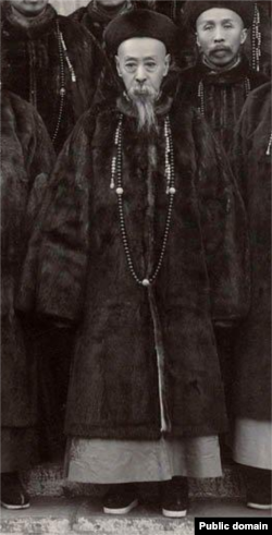 清朝末期的内阁总理大臣、庆亲王奕劻(1838-1917)