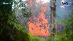 Hawaii'de Yanardağdan Çıkan Lavlar Yerleşim Birimlerini Tehdit Ediyor