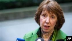 Ủy viên đặc trách chính sách đối ngoại EU, bà Catherine Ashton.