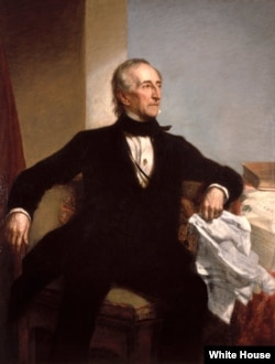 Official White House portriat of John Tyler by George P. A. Healy