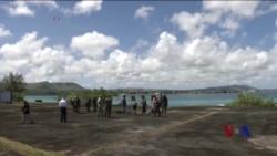 法日美英四国在关岛附近军演