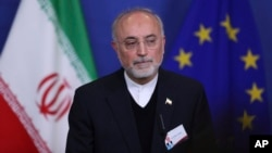 "Iran's Head of the Atomic Energy Organization Ali Akbar Salehi says, Jan. 13, 2018, the Islamic Republic has begun ""preliminary activities for designing"" a modern process for 20-percent uranium enrichment for its 50-year-old research reactor in Tehran."