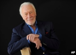 FILE - Christopher Plummer poses for a portrait at the Beverly Hilton Hotel in Beverly Hills, California, July 25, 2013.