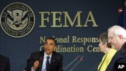 ປະທານາທິບໍດີ ໂອບາມາ ທ່ີກອງປະຊຸມ FEMA ວັນທີ 16 ມີນາ 2011
