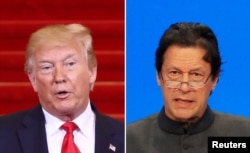 도널드 트럼프 미국 대통령과 임란 칸 파키스탄 총리.