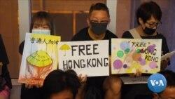 英语视频:香港抗议活动仍在继续 对抗与平静共存