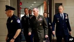 美国参谋长联席会议主席邓福德将军在参议院参加听证(2019年5月21日)