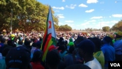 Thousands of people are attending the million man march in Harare