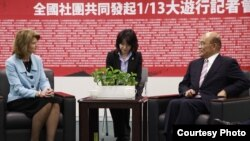 民进党主席苏贞昌会见美国参议员穆考斯基(台湾民进党提供)