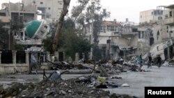 Razrušeni grad Deir al Zor u Siriji