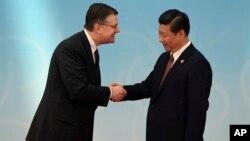 Ông Kritenbrink trong cuộc gặp với Chủ tịch Trung Quốc Tập Cận Bình năm 2014, khi còn làm việc tại Đại sứ quán Mỹ ở Bắc Kinh.