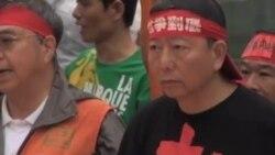 香港各界五一遊行争取劳工权益