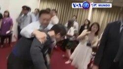 Manchetes Mundo 18 Julho 2017: Políticos de Taiwan lutam no Parlamento