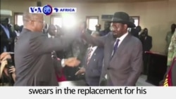 VOA60 Africa - S. Sudan President Swears In New VP to Replace Machar