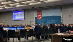 سن 2019 میں ہونے والے ایف اے ٹی ایف کے اجلاس کا ایک منظر