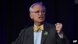 FILE - Rep. Earl Blumenauer, D-Ore., speaks in Portland, Oregon, Nov. 6, 2018. The White House and business groups are stepping up efforts to win congressional approval for the U.S.-Mexico-Canada trade accord.