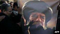 Египетские христиане прощаются с патриархом Шенудой III. Каир, 18 марта 2012