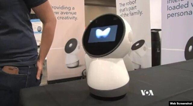 Jibo, social robot on display at the Robot Ranch.