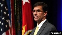 마크 에스퍼 미국 국방장관.