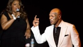 """Mike Tyson on opening night of his show """"Mike Tyson: Undisputed Truth"""" which ran for six nights in April in Las Vegas, in a photo provided by SPI Entertainment"""
