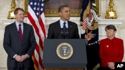 奧巴馬提名兩人的記者會上