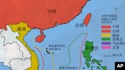 南中国海主权声索示意图