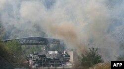 Manji požar na prelazu Jarinje