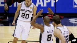 NBA, San Antonio Spurs, 15 juin 2014. (Photo AP)