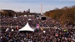 فراخوان دوکمدین آمریکایی هزاران نفر را به نشنال مال واشنگتن دی سی کشاند