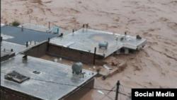 میزان سیل در شهر معمولان واقع در استان لرستان
