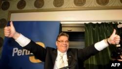 Gerçek Finler Partisi'nin başkanı Timo Soini