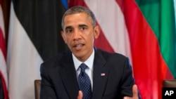 奥巴马谈论叙利亚问题。2013年8月30日