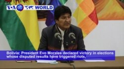 VOA60 World - Bolivia's Morales Claims Outright Win in Presidential Vote