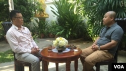 Long Dimanche recently appointed as the Cambodian Ambassador to South Korea talks to VOA Khmer's Neou Vannarin in Phnom Penh, Thursday, April 14, 2016. (Pin Sisovann/VOA Khmer)