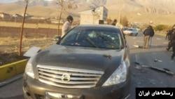 محل کشته شدن محسن فخری زاده (آرشیو)
