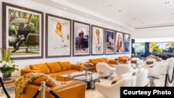 The lounge is shown inside America's most expensive home, which is for sale in the Bel Air neighborhood of Los Angeles, California, for $250 million. (Bruce Makowsky / BAM Luxury Development)